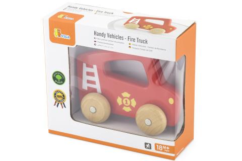 Dřevěné hasičské autíčko