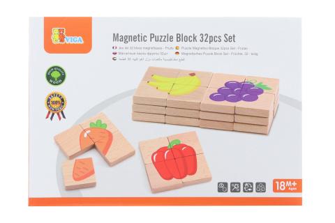 Dřevěné magnetické puzzle - ovoce