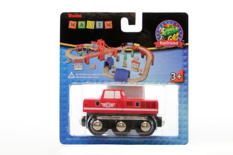 Maxim Dieselová lokomotiva červená