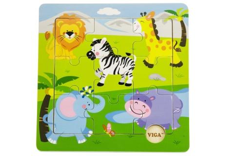 Dřevěné puzzle - safari