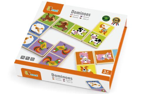Dřevěné domino - domácí zvířata