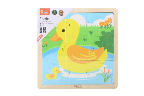 Dřevěné puzzle - kachnička