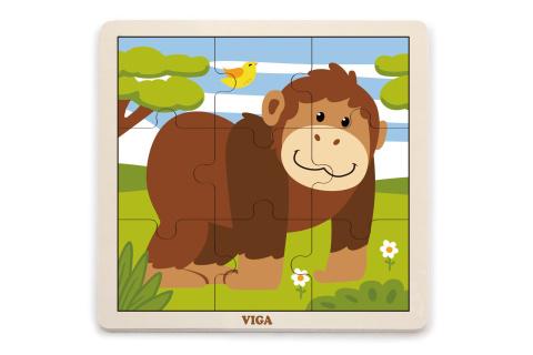 Dřevěné puzzle - opice