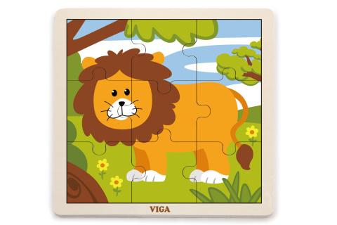 Dřevěné puzzle - lev