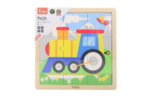 Dřevěné puzzle - mašinka