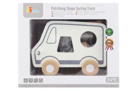 Dřevěná tahačka a vkládačka - nákladní auto
