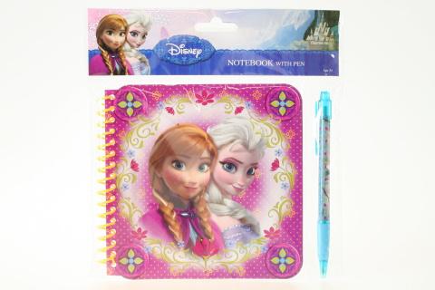Zápisník s propiskou Frozen