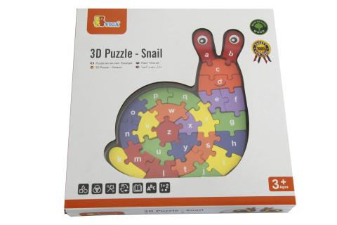 3D Puzzle - Šnek s písmenky
