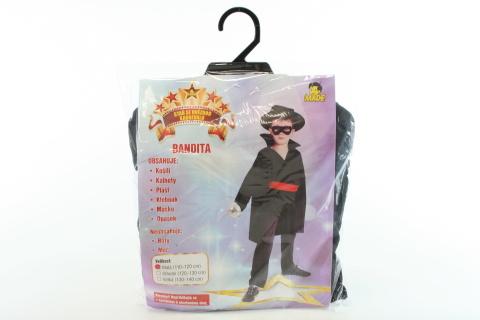 Šaty na karneval - Bandita, 110-120 cm