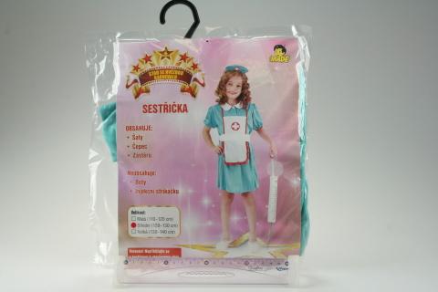 Šaty na karneval - Sestřička, 110-120 cm