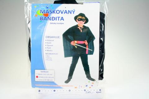 Šaty Maskovaný bandita 120-130cm