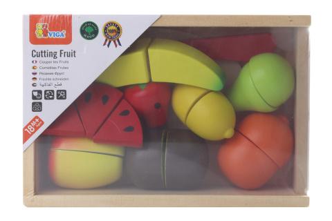 Dřevěné krájení - ovoce