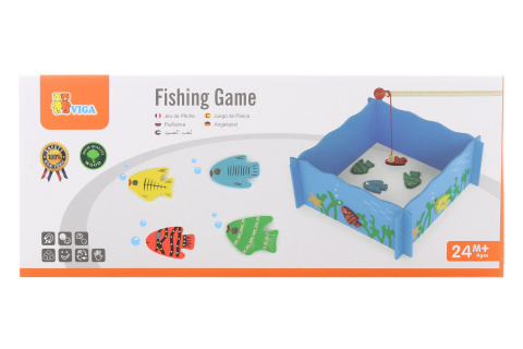 Dřevěné rybaření na magnet