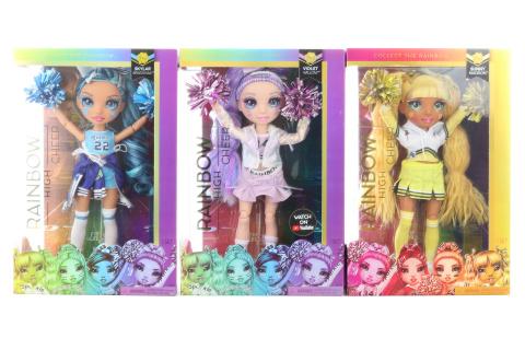 Rainbow High Fashion panenka - Roztleskávačky, 3 druhy TV