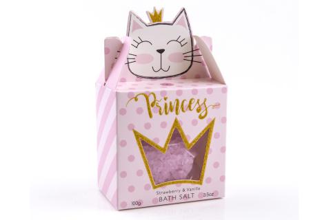 Sůl koupelová PRINCESS KITTY 100 g  v papírové krabičce