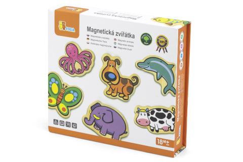 Dřevěné magnety 20 ks - zvířátka