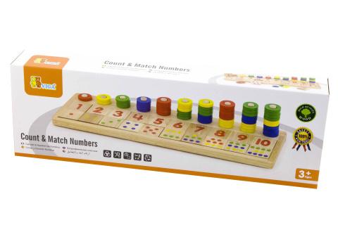 Dřevěná hra počítání