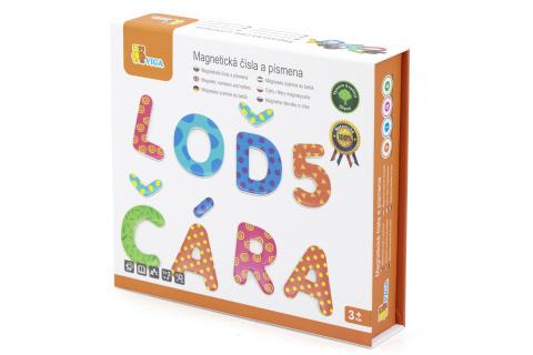 Dřevěná magnetická písmenka a číslice