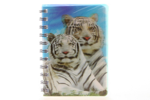 Zápisník A6 bílý tygr 3D