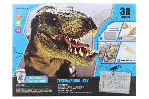 Tesání T-Rex s omalovánky