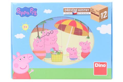 Dřevěné kostky - Peppa Pig 12