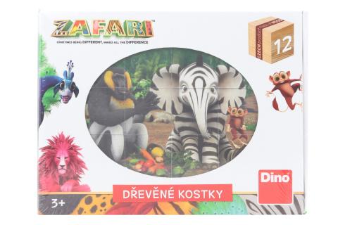 Dřevěné kostky - Zafari 12