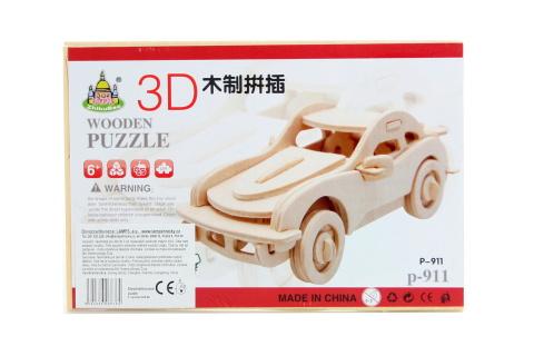 Puzzle dřevěné 3D Auto