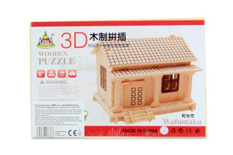 Puzzle dřevěné 3D Domek