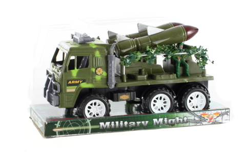 Vojenské auto s raketou