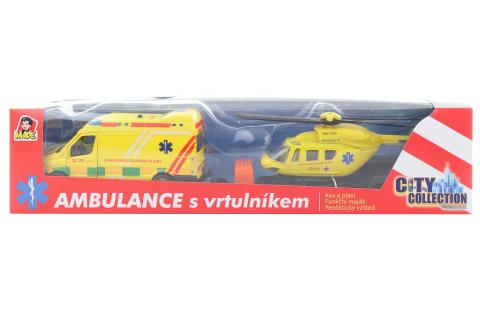Sada ambulance + vrtulník se světlem a zvukem