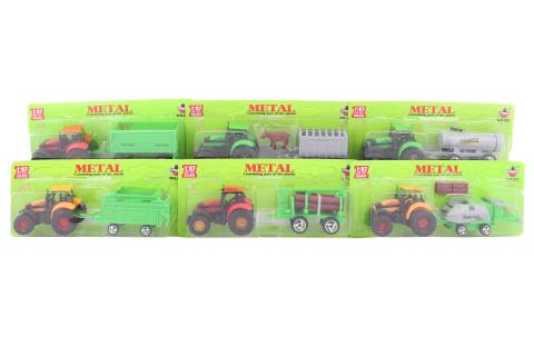Traktor kovový