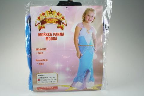 Šaty Mořská panna modrá 120 - 130 cm