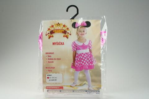 Šaty na karneval - Myšička, (92 - 104 cm)