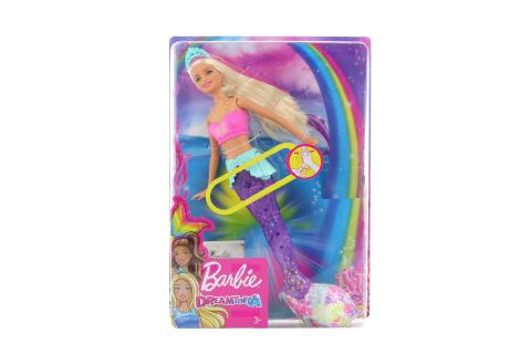Barbie Svítící mořská panna s pohyblivým ocasem