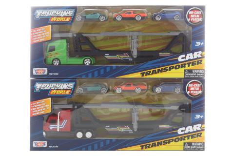 Kamion přepravník s autíčky