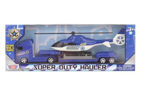 Policejní kamion s vrtulníkem kov