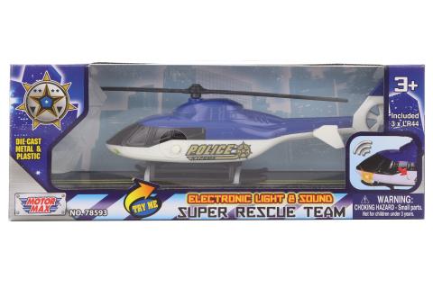 Helikoptéra policejní kov na baterie