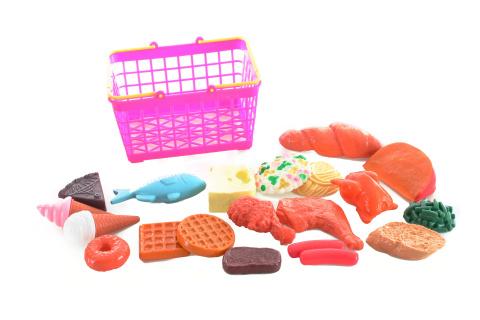 Košík s jídlem