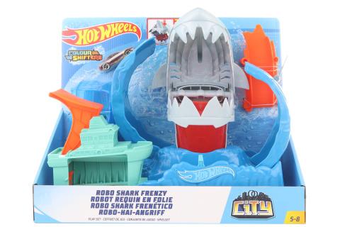 Hot Wheels City color shifters robo žralok  GJL12