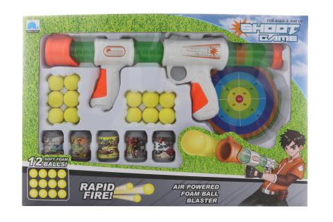Pistole na míčky s terčem