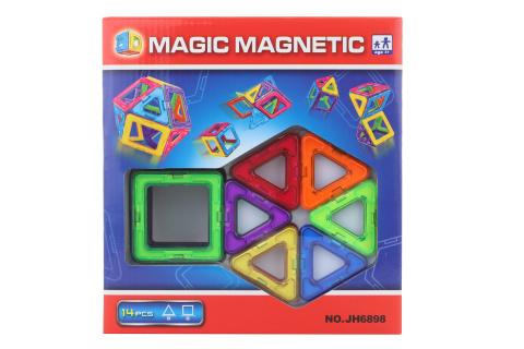 Magnetická stavebnice 14 ks
