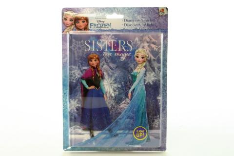Zápisník se světlem Frozen