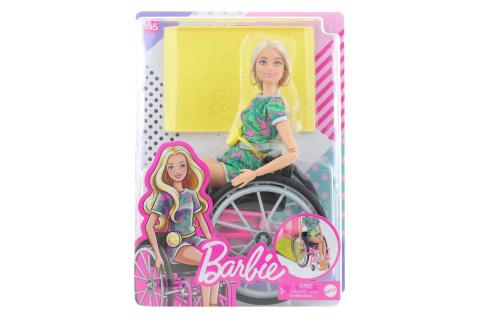 Barbie Modelka na invalidním vozíku - blondýnka GRB93
