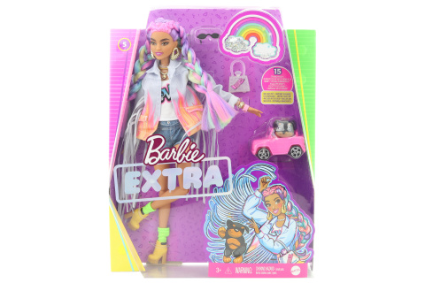 Barbie Extra - s duhovými copánky GRN29