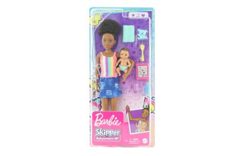 Barbie Chůva s tílkem + miminko/doplňky GRP12