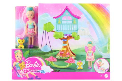 Barbie Chelsea s domkem na stromě herní set GTF49