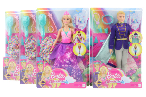 Barbie Princ/princezna se změnou  GTF91