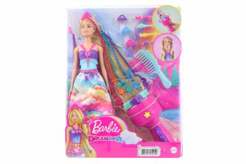 Barbie Princezna s barevnými vlasy herní set GTG00 TV 1.-31.12.