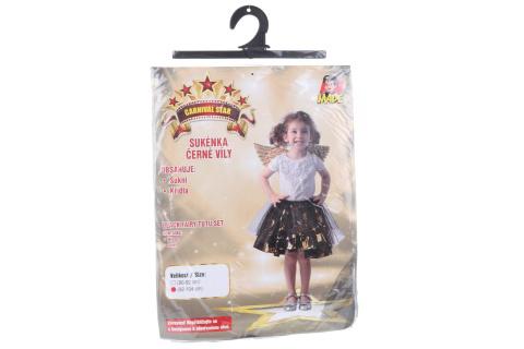 Šaty na karneval - černá víla 92 - 104
