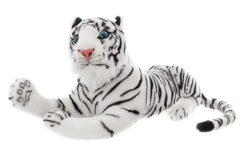 Plyš tygr bílý 55 cm